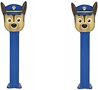 Pez Paw Patrol Dispensers and Candy Refill Bundle 2 Dispensers - Chase 2 Pack