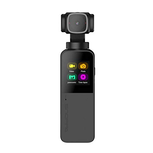 Snoppa Vmate Handheld Gimbal Camera Palm Sized 3-Axis 4K Camera 118g WiFi Connection with Microphone 90° Rotating Lens