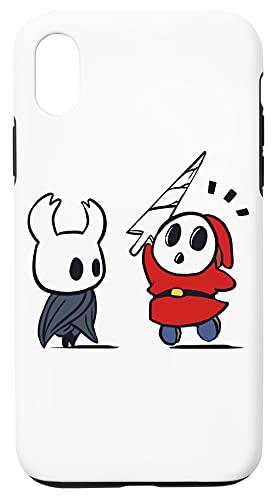 Hollow Shy Guy Caja del Teléfono Compatible con iPhone XR Cubierta de Plástico + Silicona Duro Hard Plastic Cover