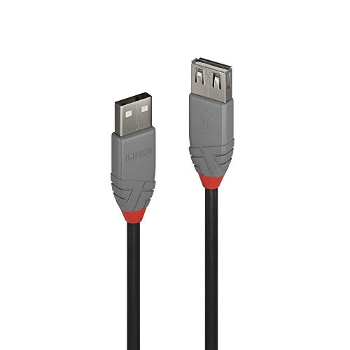 Lindy Prolunga USB 2.0 Tipo A Anthra Line, 1m, Nero