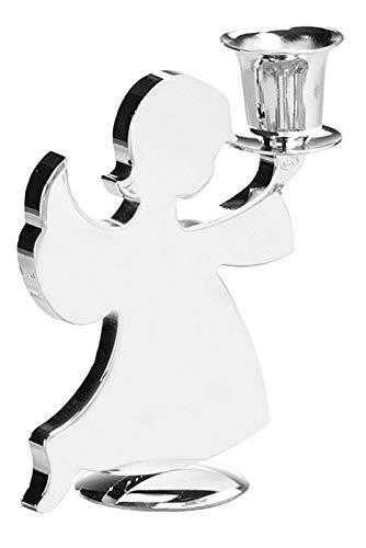 Fink Kerzenhalter Holyworker - vernickelt für Stabkerze H 10 cm