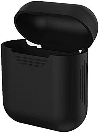 MStick Airpod Cover Case Rubber Sillicon Shock Proof Protective Case for Apple AirPods Wireless Headphone   Black