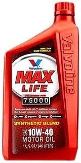 Valvoline VV150 MaxLife SAE 10W-40 High Mileage Motor Oil - 1 Quart Bottle (Case of 12)