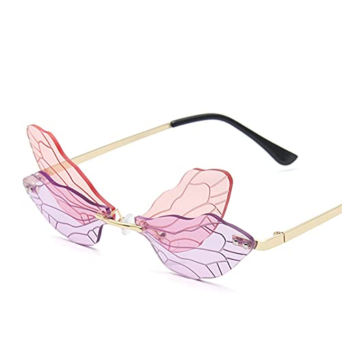 YMOMY Eyewear De Onda Sin Montura De Moda Vintage Gafas De Sol De Lujo Uso En Protección UV UVA UVB UVC Luz Azul O Cualquier Tipo De Luz Dañina (Lenses Color : C5)