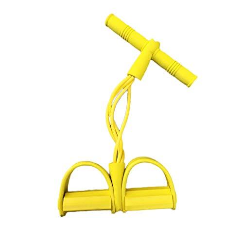 4 Resistanc Elastic Pull Ropes Exerciser Rudergerät Belly Resistance Band Home Gym Sporttraining Elastic Bands für Fitnessgeräte - Gelb
