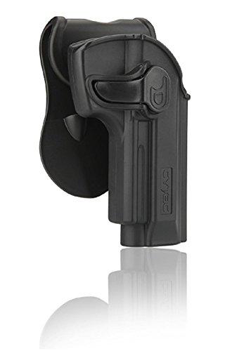Cytac Hi-Tech - Funda rígida para remo Beretta 92, 92FS, GSG92, Girsan Regard MC con capa de silicona, ángulo de inclinación ajustable 360°, de plástico, mano derecha
