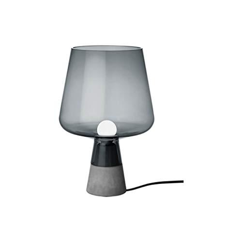 Iittala Leimu lamp, mondgeblazen glas, E14, grigio