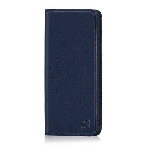 32nd Klassische Series - Lederhülle Hülle Cover für Huawei Honor 8X, Echtleder Hülle Entwurf gemacht Mit Kartensteckplatz, Magnetisch & Standfuß - Marineblau
