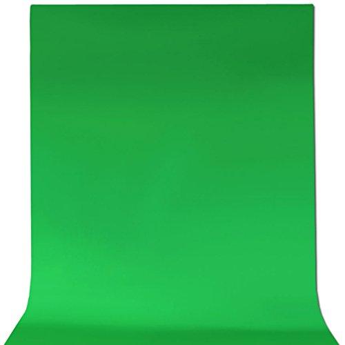 ePhotoInc 5 x 7 Feet Cotton Chromakey Green Screen Muslin Backdrop Photo Photography Background G57