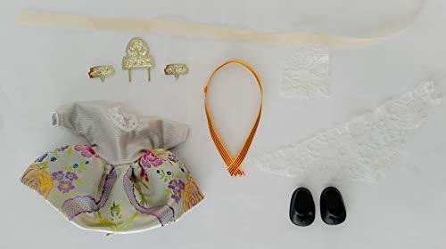 Folk Artesanía Vestido y complementos Regional típico Valenciana o Fallera muñeca Barriguitas de Famosa. Muñeca no incluida en el Lote.