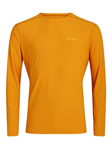 Berghaus 24/7 Long Sleeve Crew Base Layer Top T-Shirt, Sunflower, XXL para Hombre