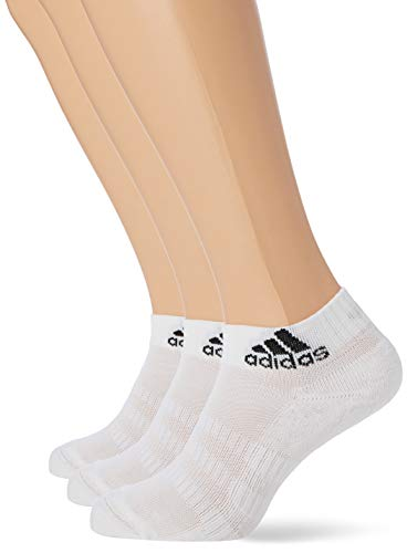 adidas CUSH ANK 3PP Socks, White/White/White, XS