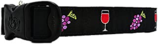 3 Dirty Dawgz Adjustable Vineyard Alcohol Wine Dog Collars for Medium Large and X-large Dogs