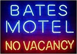Neon princess Factory 24x20 inches Bates Motel no Vacancy Real Glass Tube Neon Light Home Beer Bar Pub Recreation Room Game Lights Windows Signs