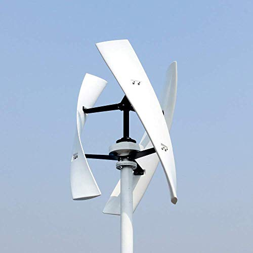 HYLH 300W 12V 24V Spiral Wind Turbine Generator Rot/Weiß VAWT Vertical Axis Residential Energy