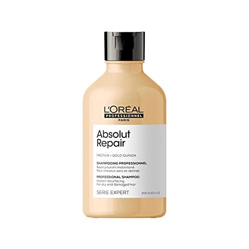 L'Oréal Professionnel   Champú Tratamiento Reconstructor para cabellos secos y dañados, Absolut Repair, SERIE EXPERT, 300mL