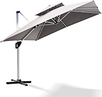 Project One 10ft Patio Large Cantilever Umbrella