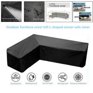 TeBaisea L Shape Sofa Cover Water-Resistant Sectional Furniture Cover Dustproof Waterproof Sunscreen 85 Inch Anti-dust Patio Outdoor Garden Furniture Protector 215x215cm