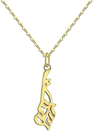Collar para mujer, collar para hombre, colgante musulmán, collar de oro para mujeres, Islam religioso, Alá, joyería árabe, collar persa, collar vintage, regalo de regalo