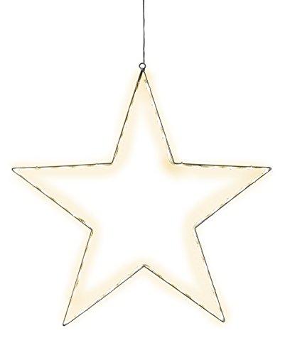 Star 804-15 Lumiwall Silhouette lumineuse à DEL, Métal, Argent, 3.5 x 50.0 x 50.0 cm