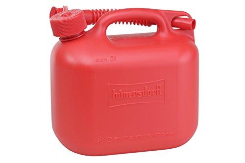 Preisvergleich Produktbild Kraftstoff-Kanister STANDARD 5l für Benzin,  Diesel und andere Gefahrgüter,  UN-Zulassung,  made in Germany,  TÜV-geprüfter Produktion,  rot