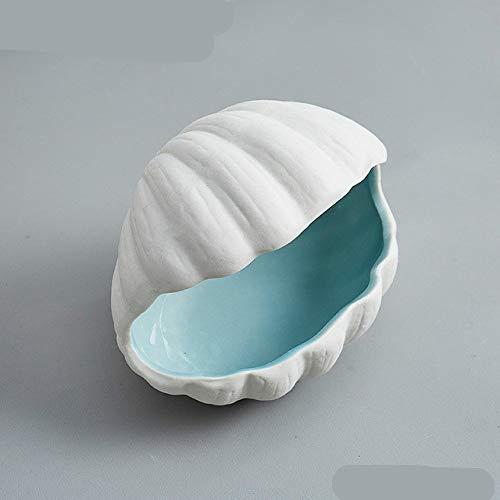 Bandeja De Joyería De La Serie Conch, Placa De Exhibición De Joyería De Porcelana Blanca, Collar, Collar, Caja De Almacenamiento De Exhibición De Pendientes 10 * 10 * 12cm shell-B