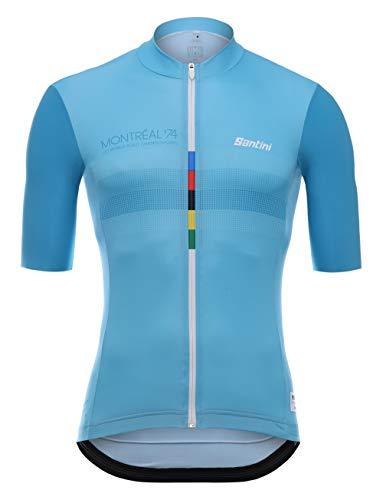 Santini UCI Le Cannibale, Maglia Manica Corta Uomo, Multicolore, M