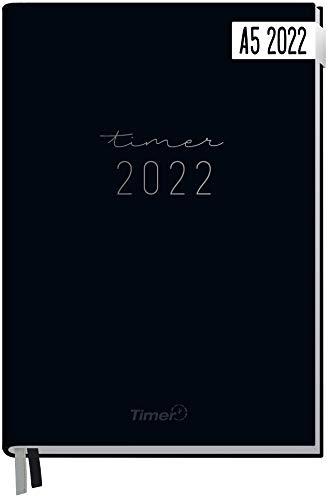 Chäff-Timer Classic Kalender 2022 A5 [Schwarz] mit 1 Woche auf 2 Seiten | Terminplaner, Wochenkalender, Organizer, Terminkalender mit Wochenplaner | nachhaltig & klimaneutral