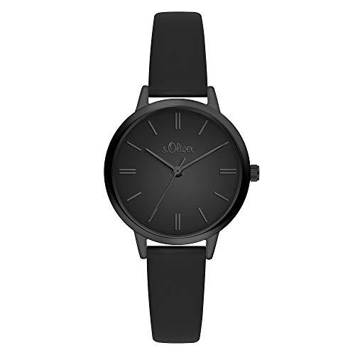 s.Oliver Damen Analog Quarz Armbanduhr SO-3809-LQ