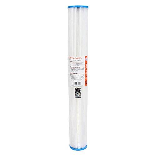 Lot de deux cartouches filtre à eau 2.5 x 10 pouces plissé 20 et 5 microns carbone