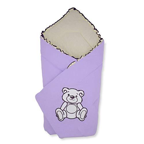 BlueberryShop Jersey Baby Swaddle Wrap beddengoed deken | Slaapzak voor pasgeborenen | Bestemd voor kinderen 0-3 maanden | Perfect als baby douche cadeau | 78 x 78 cm | Paars