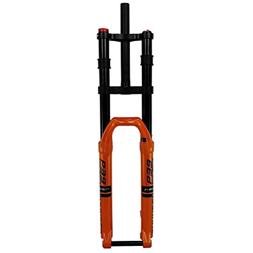 Horquilla de Aire MTB Horquilla Delantera Bicicleta de montaña Presión de Aire Horquillas de Amortiguador de Bicicleta Ajuste de Rebote Tubo Recto Control de Doble Hombro