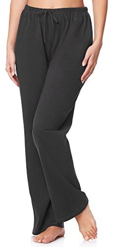 Merry Style Pantaloni del Pigiama Donna MPP-001 (Antracite, M)