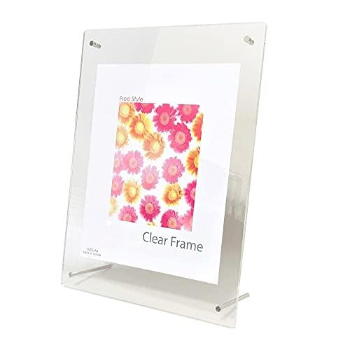 アクリルフレーム A4 透明 クリア 卓上 壁掛け 縦 横 兼用 写真立て アクリル製 フレーム フォトフレーム