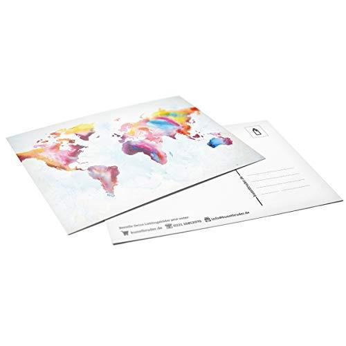 Kunstbruder Weltkarte 3er Postkarten-Set in versch. Motiven by (div. Motive)- Street Art Banksy Skyline Postkarten Din A6 14,8x10x5cm