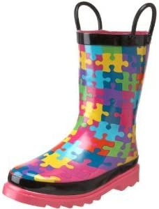 Western Chief Kid's Puzzle Pieces Rain Boot (Toddler/Little Kid)
