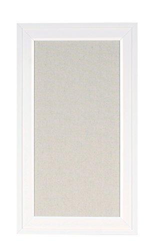 DesignOvation Bosc Framed Pinboard, 13.5X23.5, White