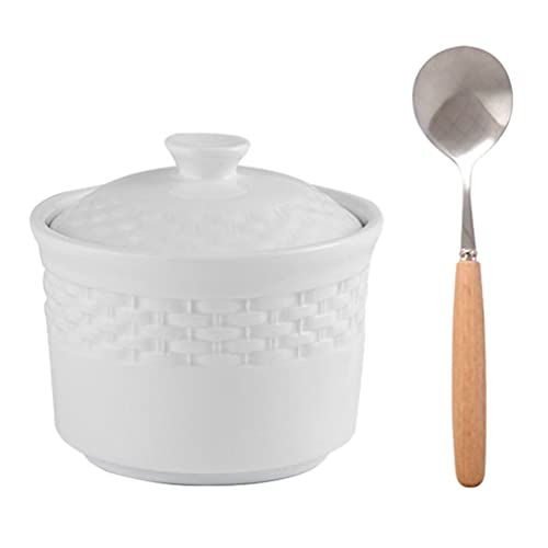 Cabilock Keramik Eintopf Topf mit Deckel Nicht- Stick Keramik Auflauf Topf Porzellan Dampfende Tasse Küche Egg Custard Vorspeise Schüssel Dampf Suppe Schalen für Eintopf Suppe Dampf