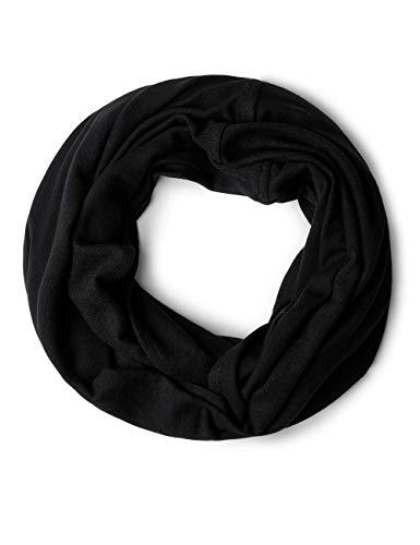 CECIL CECIL Damen Schal 570706, Schwarz (Black 10001), One Size (Herstellergröße: A)