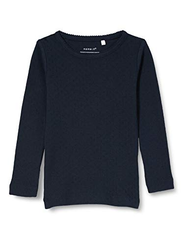 NAME IT Mädchen NKFVITTE LS XSL TOP M NOOS Sweatshirt, Dark Sapphire, 86