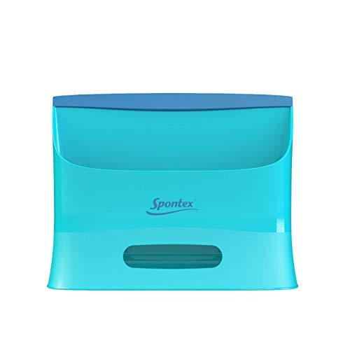 Spontex Catch & Clean, Kehrbesen mit Gummiborsten, Teleskopstiel und praktischem Auffangbehälter, hygienische und effiziente Reinigung für alle Bodenbeläge, 1 Set - 24
