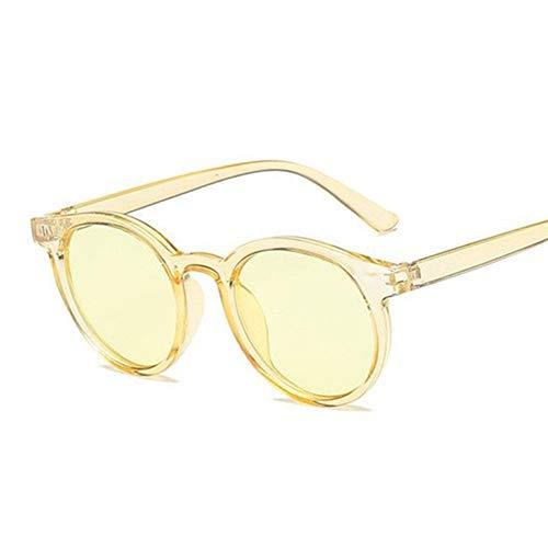 N\A Gafas de Sol Mujeres de Lujo Gafas de Sol del Ojo de Gato de la Vendimia Negro Retro Espejo Gafas de Sol (Lenses Color : Yellow)