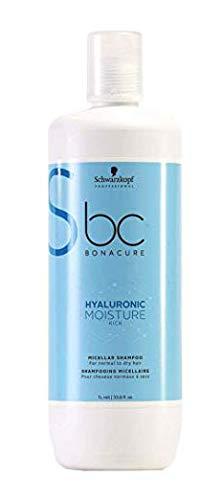 Glamorous Hub Schwarzkopf Professional Bonacure Hyaluronic Moisture Kick Micelar Champú, 1 L (El Embalaje Puede Variar)