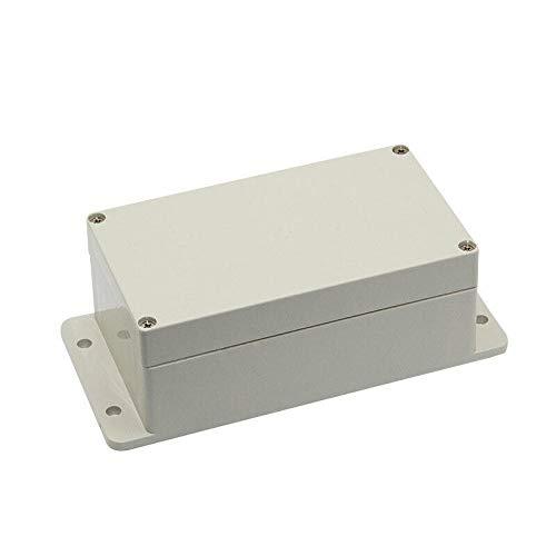 Caja de conexión, caja de plástico impermeable, caja de empalme electrónica, caja de conexiones de plástico ABS, 64 x 58 x 35 mm (transparente)