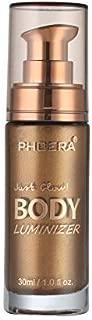 Liquid Illuminator, Firstfly Body Highlighter Makeup Smooth Shimmer Glow Liquid Foundation for Face & Body (#03 Glistening Bronze)