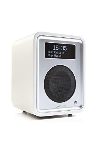 Ruark Audio R1 MK3 Tischradio AUX Bluetooth (A2DP) DAB+ UKW FM mit kontrastreiche OLED-Anzeige - weiß