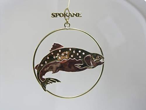 Ornament - Salmon - Brass Spokane
