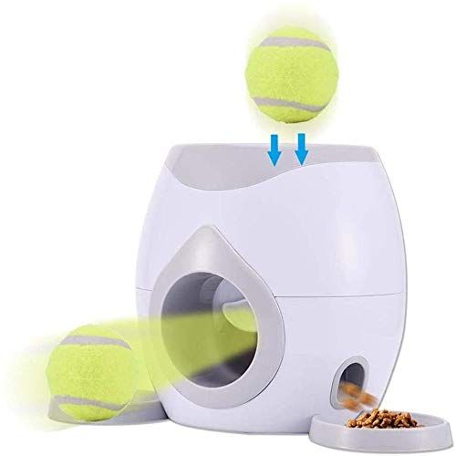 wangman Juguete Lanzador De Pelotas De Tenis para Mascotas, Alimentador AutomáTico para Mascotas, Lanzador De Pelotas De Tenis para Perros, MáQuina Interactiva para Lanzar Pelotas