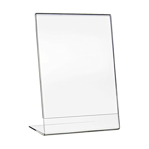 HMF 46934 Acryl Tischaufsteller schräg | DIN A4 Hochformat | Glasklar