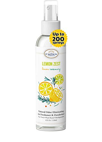 Lemon Zest Linen and Room Spray | Natural Aromatic Mist | Lemon & Rosemary Essential Oils| Bathroom Spray, Air Freshener, Pillow Mist, Sleep Spray